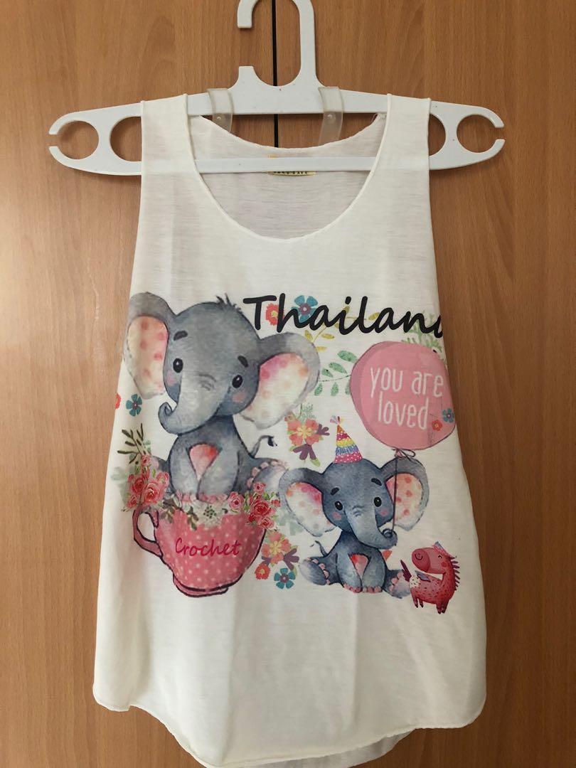 Baju thailand motif gajah