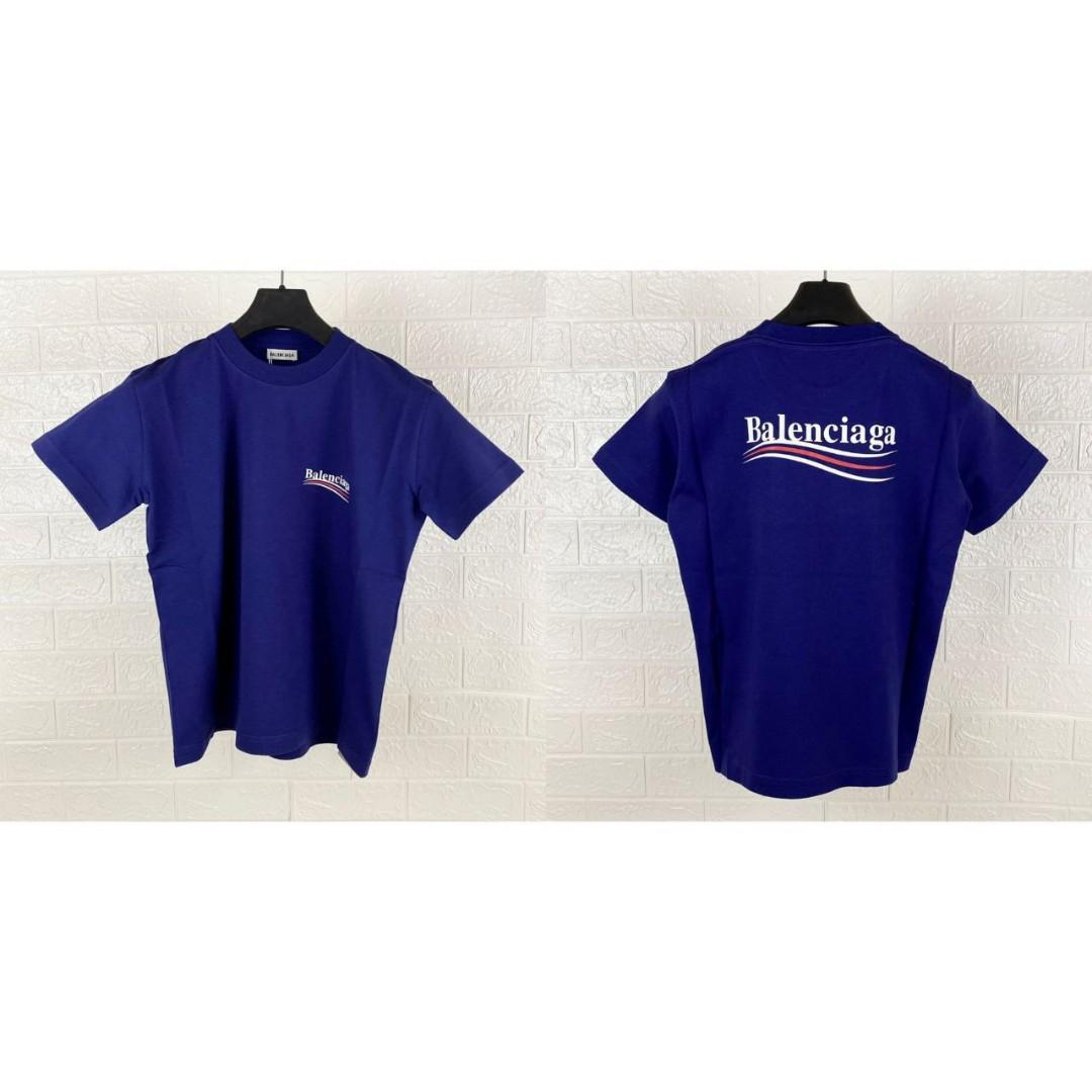 Balenciaga tshirt logo print women   Color : navy blue   Size S - 46cm  Size M - 48cm    S - 3  M - 2