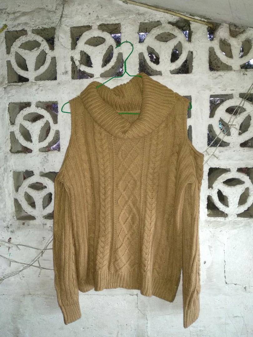 #bersih2021 Brown Sabrina Cabble Knit Sweater Rajut