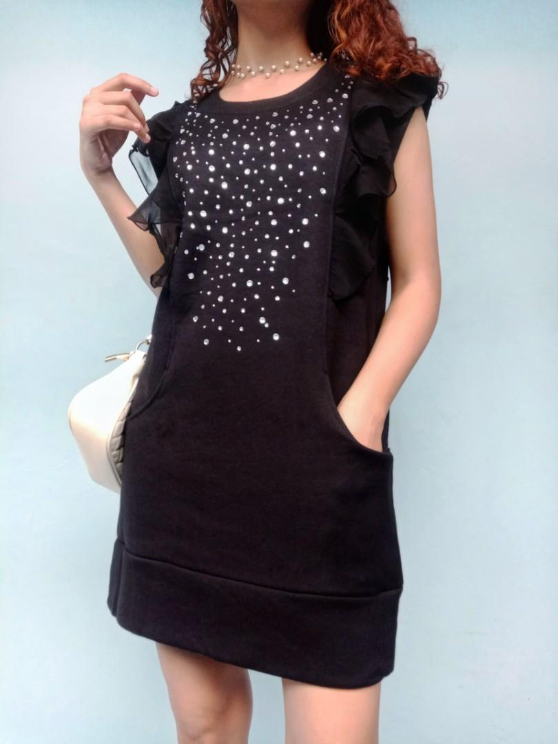 Black Mini Dress Sweater