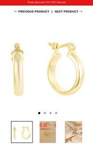 Brand New Gold Hoops