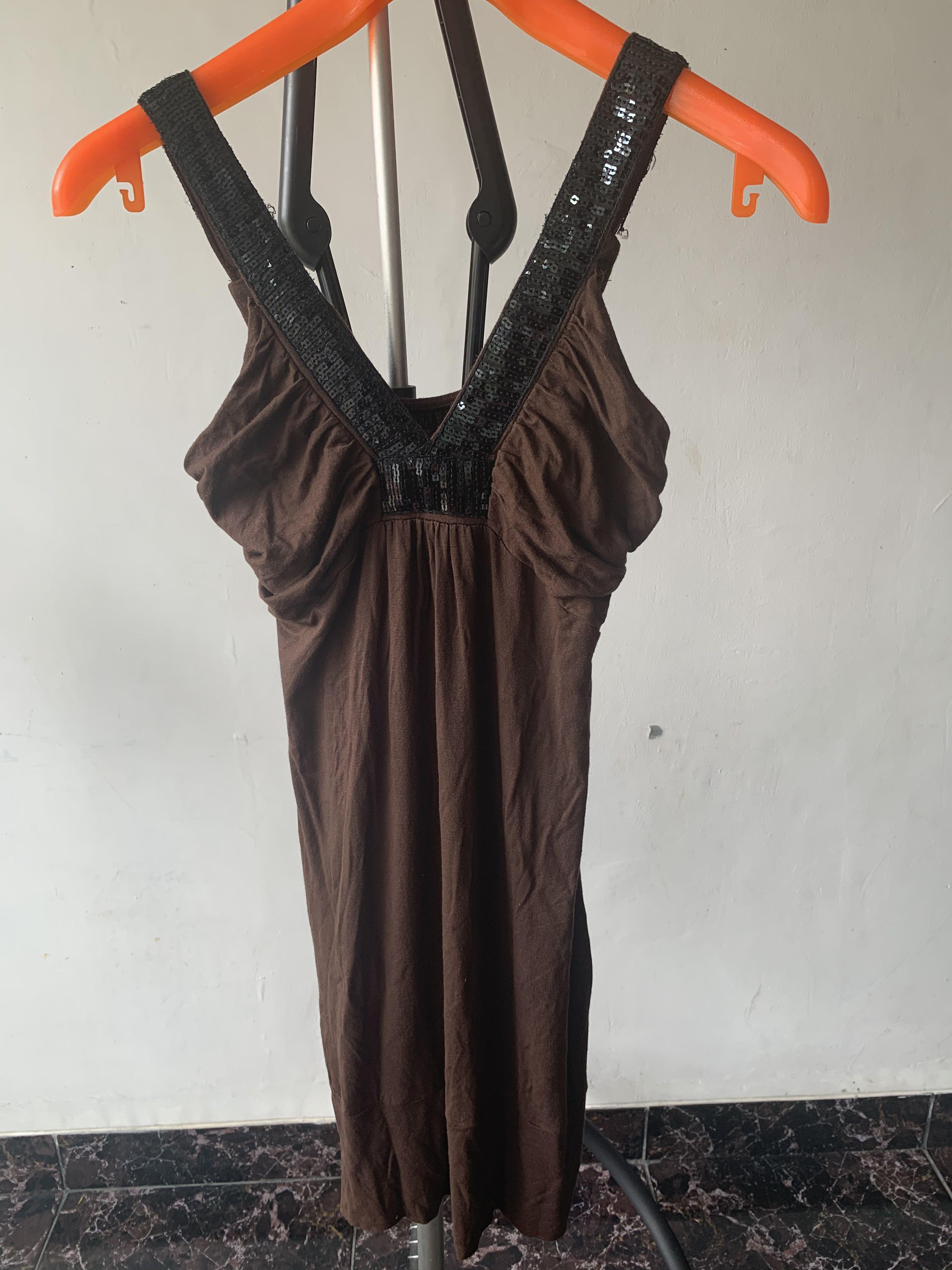 Brown sexy dress