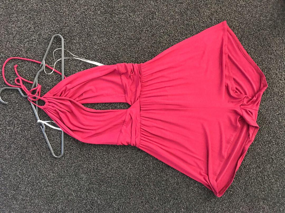 Burgundy Playsuit, Size L (with tags)