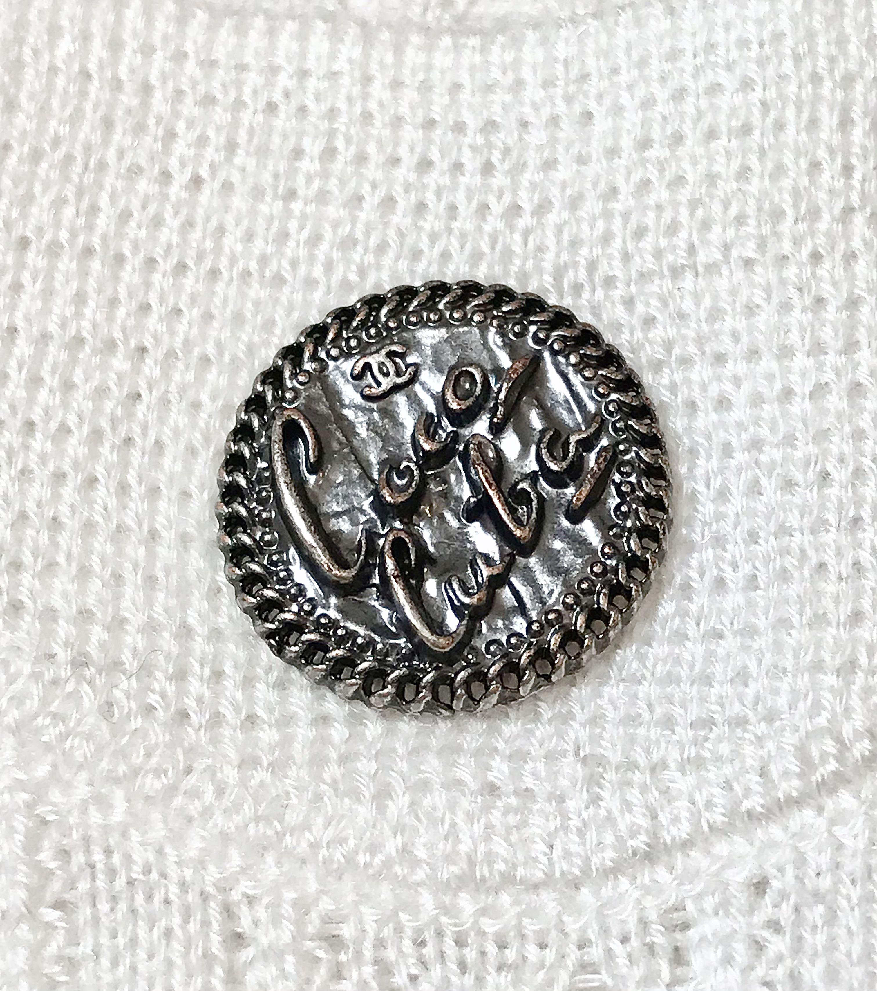 Chanel 經典四口袋鏤空針織開衫(34碼)