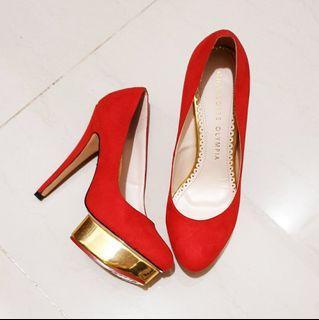 Charlotte Olympia Heels Red sz 38