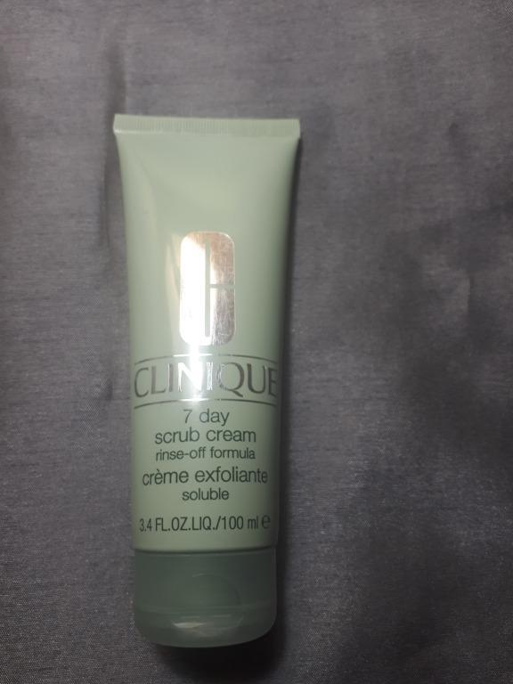 Clinique 7 day scrub cream, rinse off formula