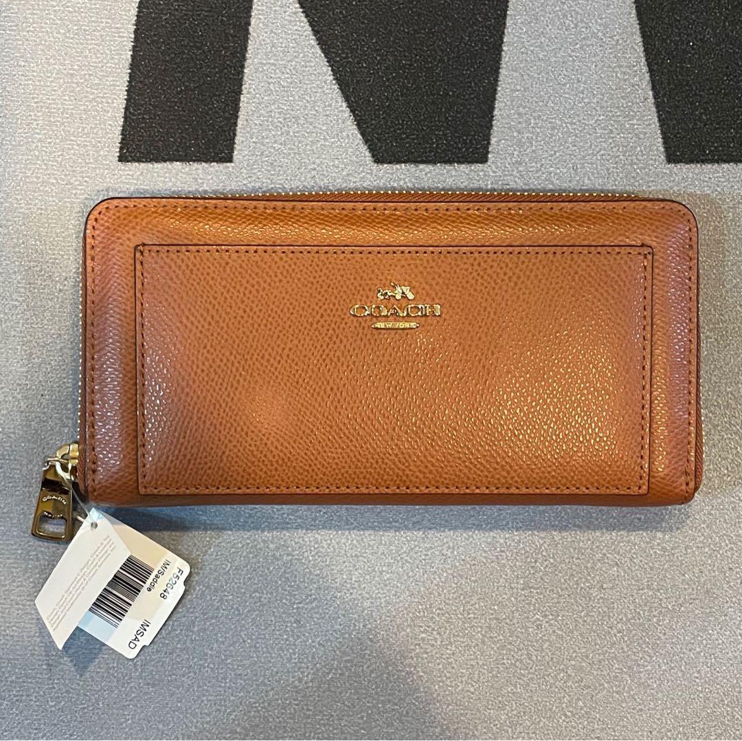 COACH F52648女士防刮真皮拉鍊長夾 錢包 多卡位皮夾 手拿包 女生長款錢包 長夾 售價$5800