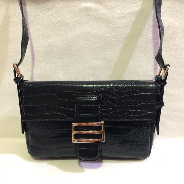 Croco shoulderbag ( free ongkir jabodetabek)