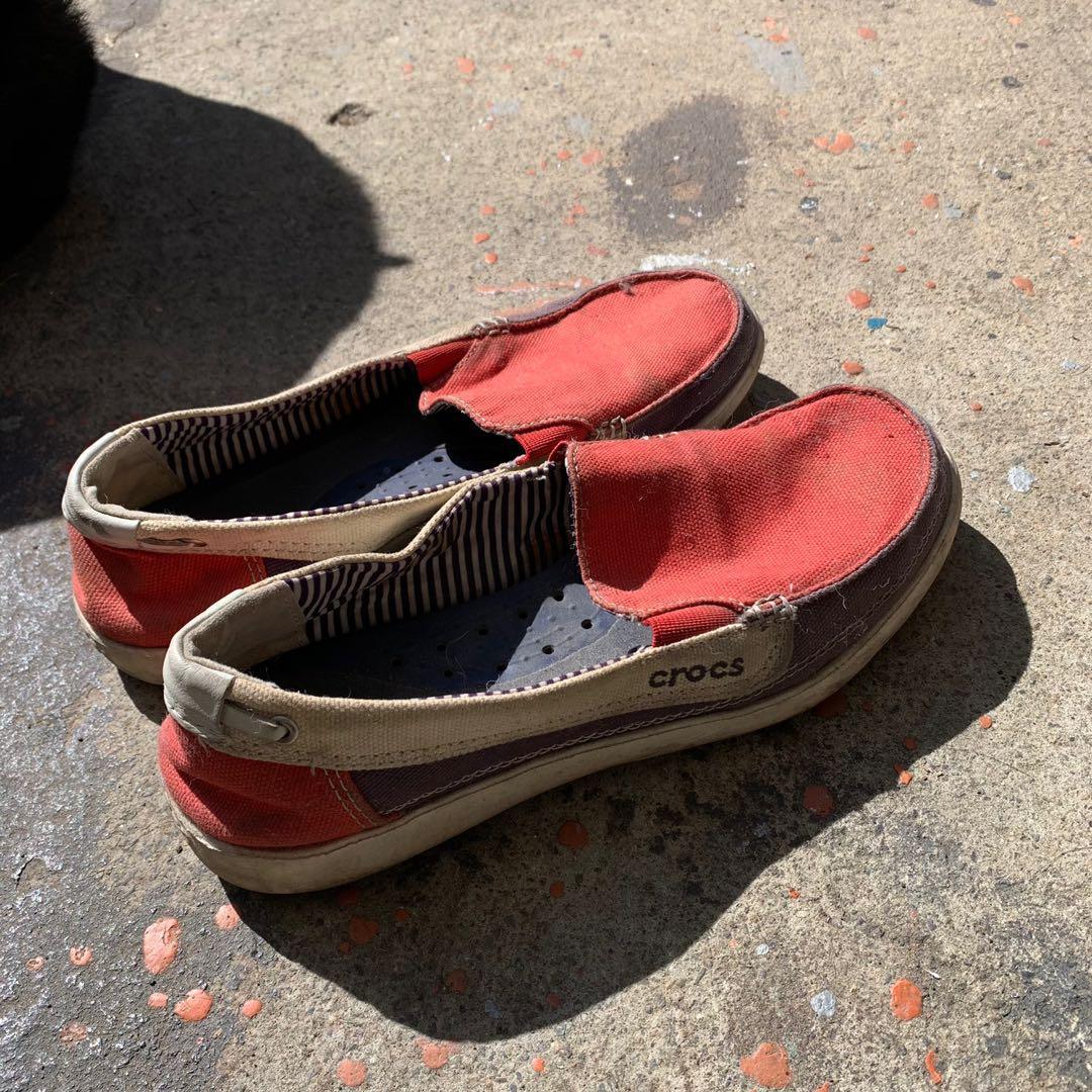 crocs鱷魚牌正版帆布包鞋