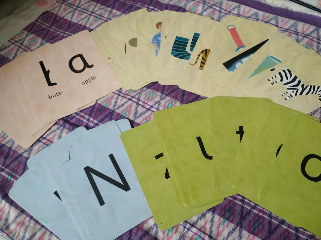 Flash cards huruf dan nama-nama benda atau barang
