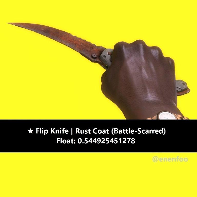 Flip Knife Rust Coat Bs Battle Scarred Csgo Skins Knives Brown Skin Toys Games Video Gaming In Game Products On Carousell
