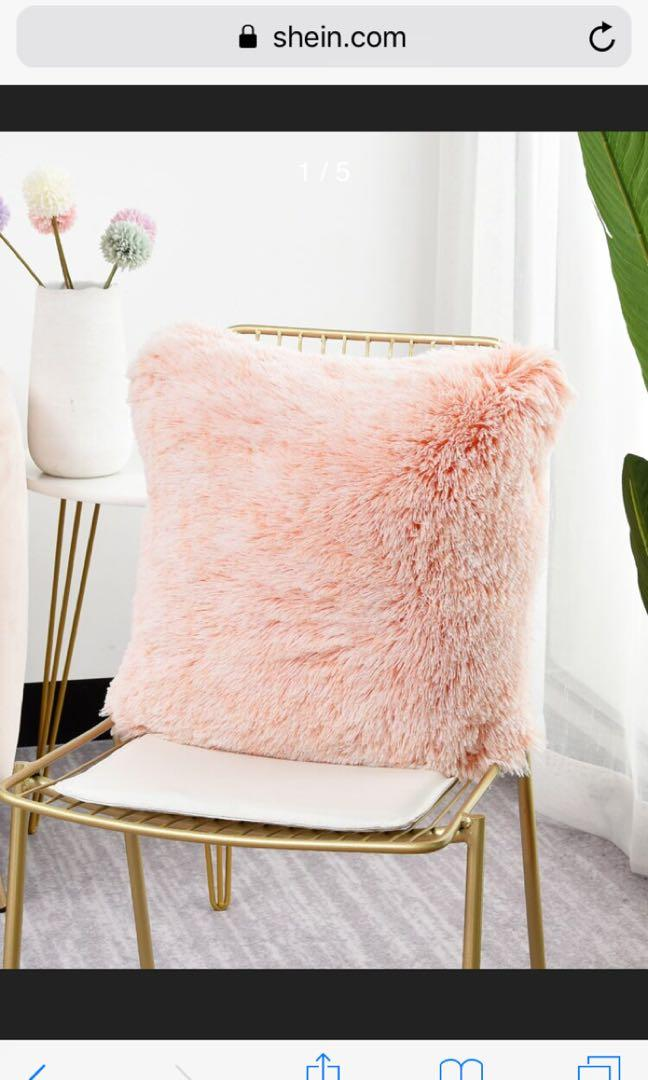 fuzzy plush faux fur pillow case