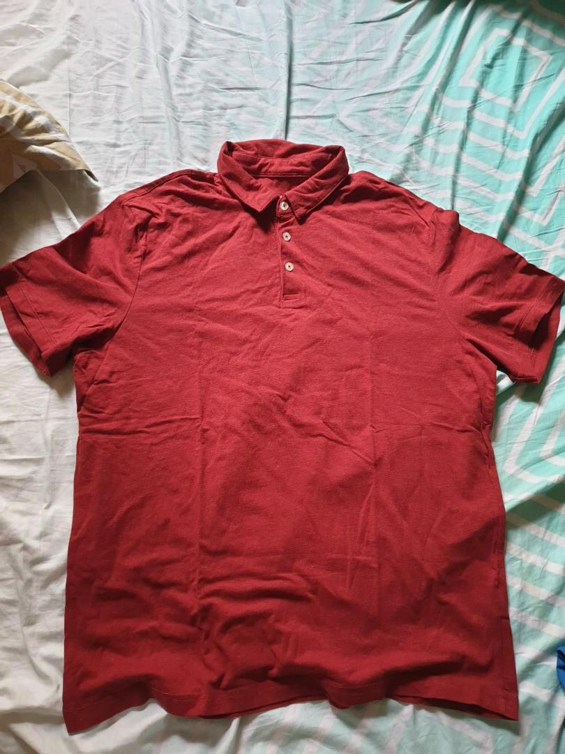 H&M polo red tops