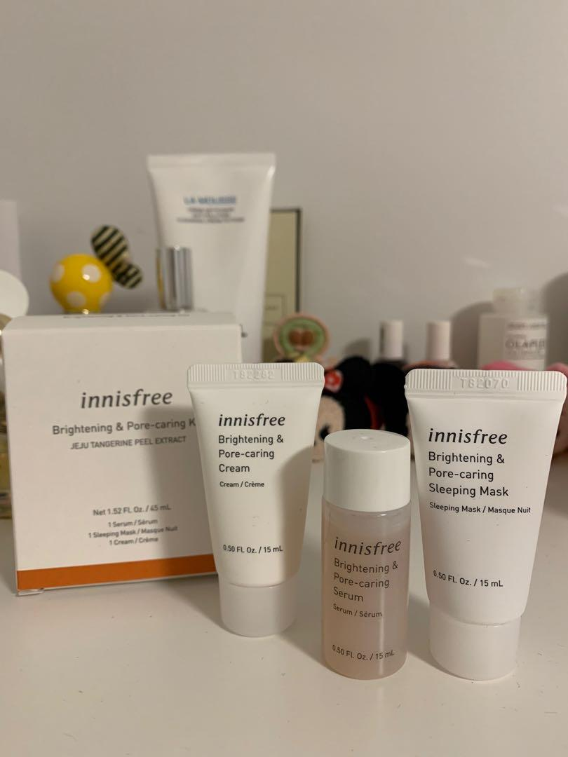 Innisfree brightening and pore caring kit