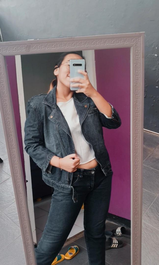 Jaket bikers jeans