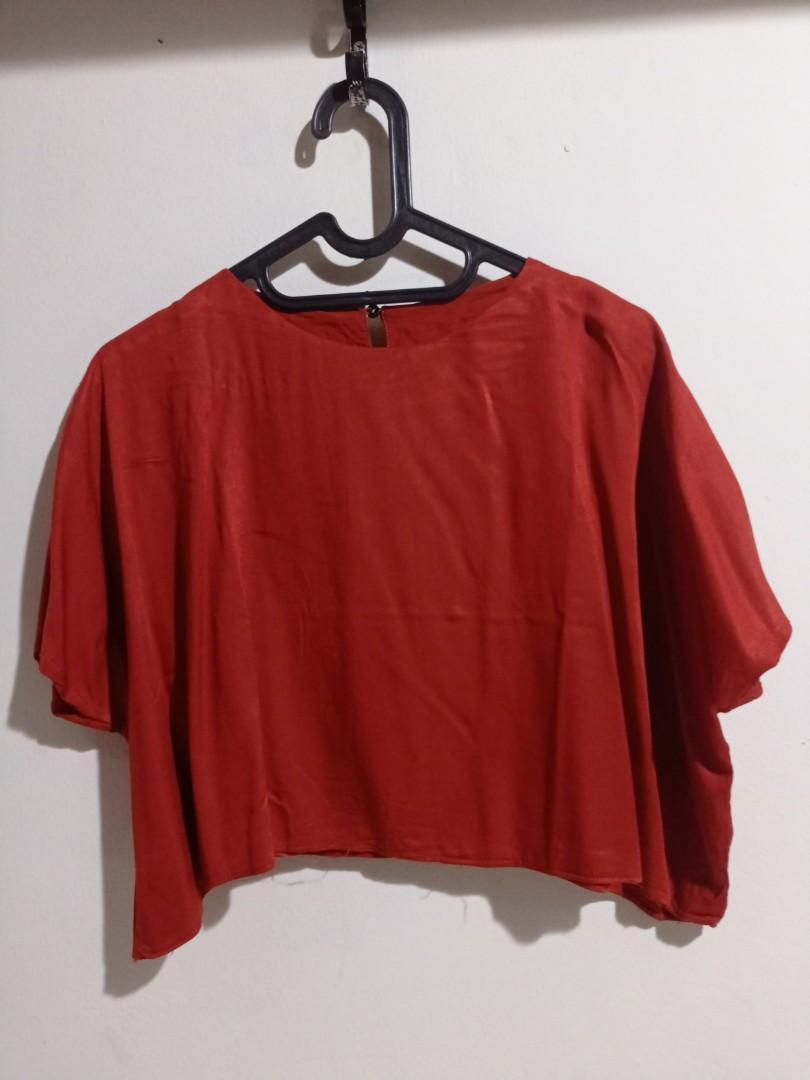 JESSA Brick rayon blouse