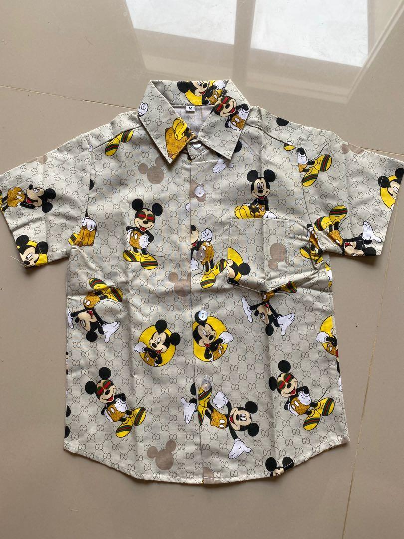 Kemeja Anak mickey mouse