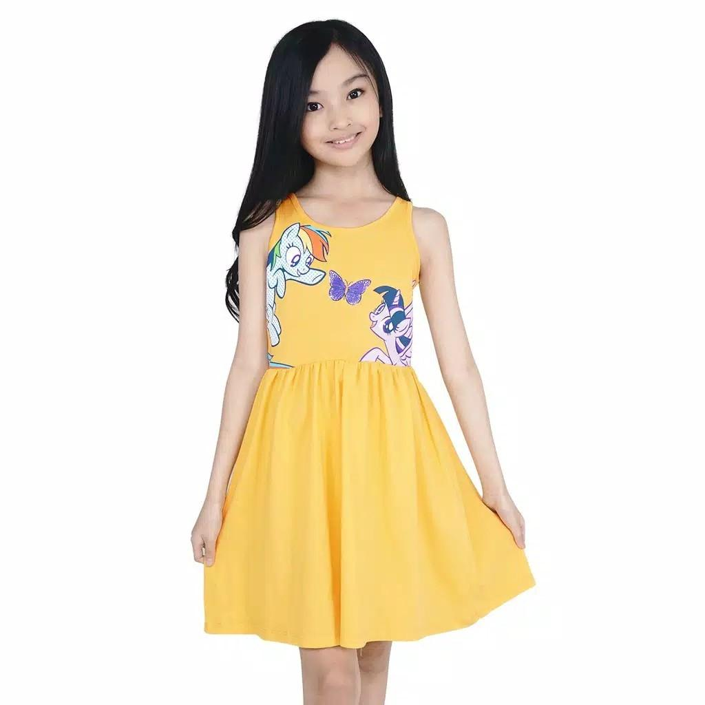 KIDS ICON - Dress Anak Perempuan MY LITTLE PONY 04-12 Tahun With Frill Detail - PY501200200