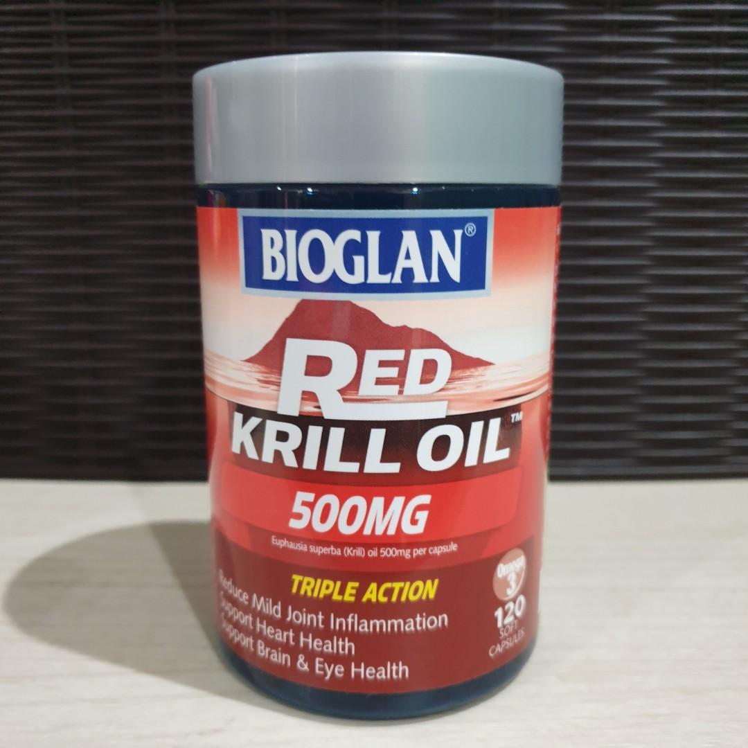 LAST 3PCS Bioglan Red Krill Oil 500MG  120capsules