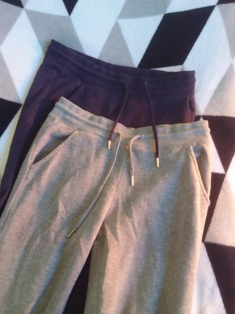 (惜福品)NET (女S)刷毛褲 (深藍,灰)2件組