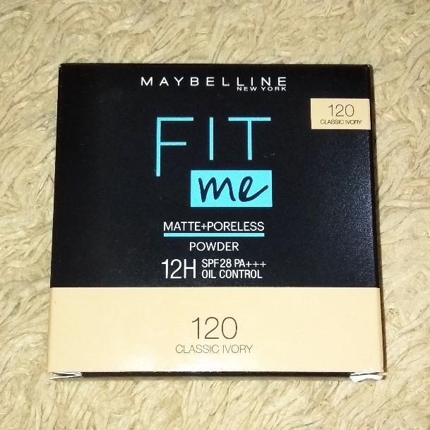 [NEW] Maybelline Fit Me Matte + Poreless Bedak Powder SPF 28 120 Classic Ivory - Makeup