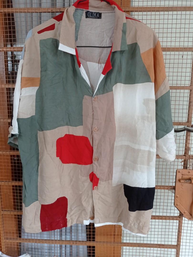 OLIKA Abstract rayon blouse