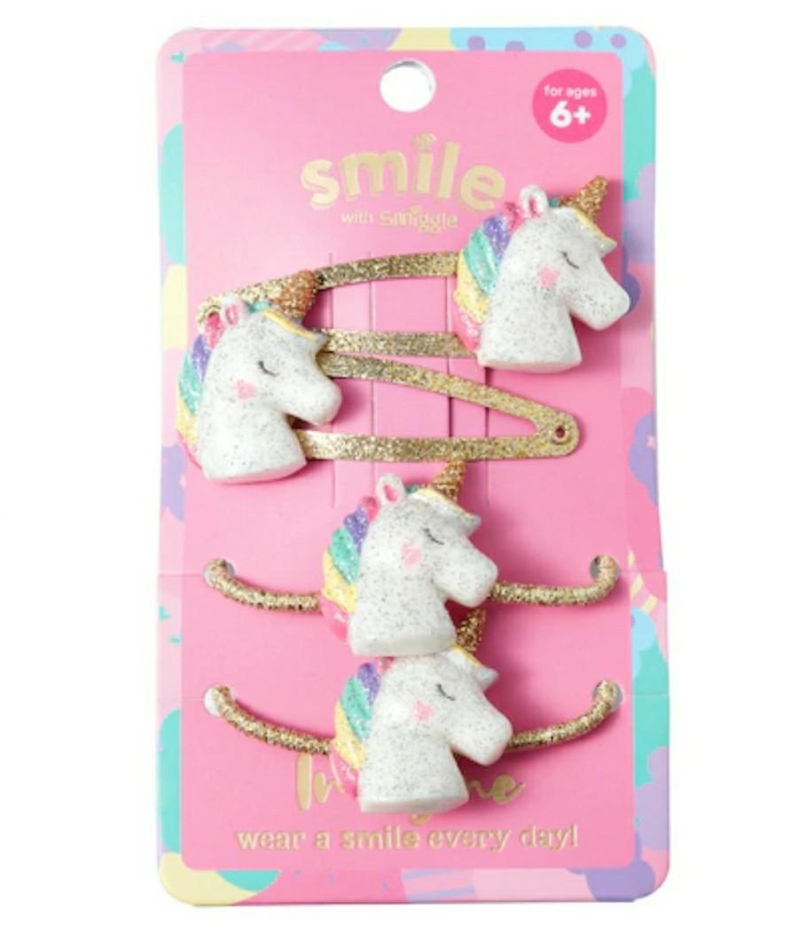 PO Glittery Unicorn Hair Set 4pcs