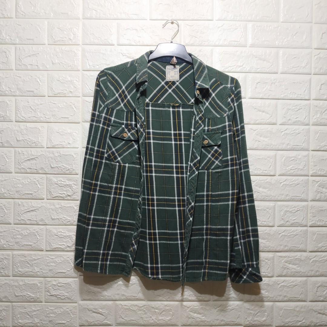 Pull&Bear Flanel Kemeja Zara Bershka H&M