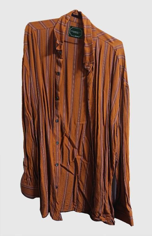 rocksteady韓國條紋襯衫+大學T+條紋褲