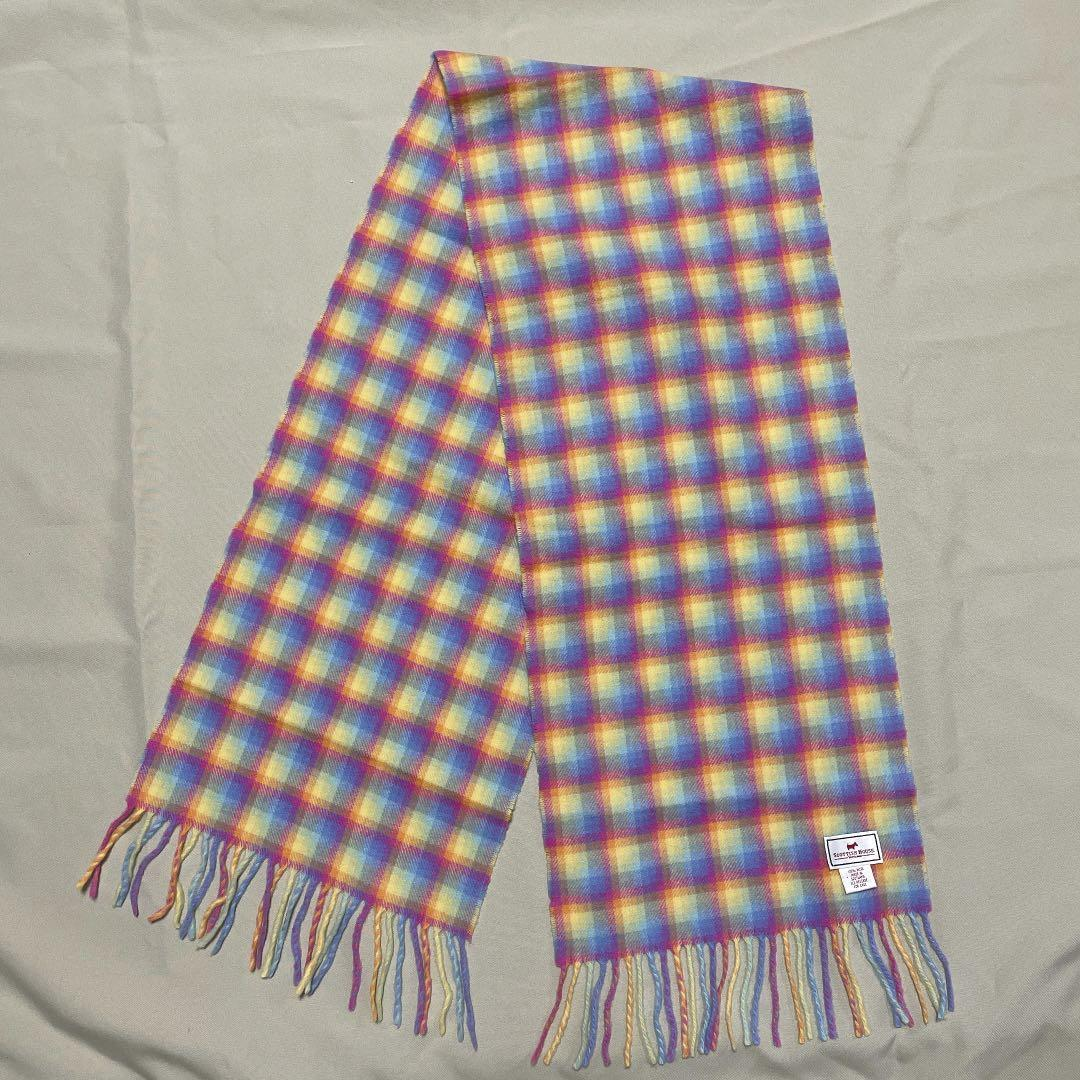 Scottish house-繽紛色彩格紋圍巾(羊毛)