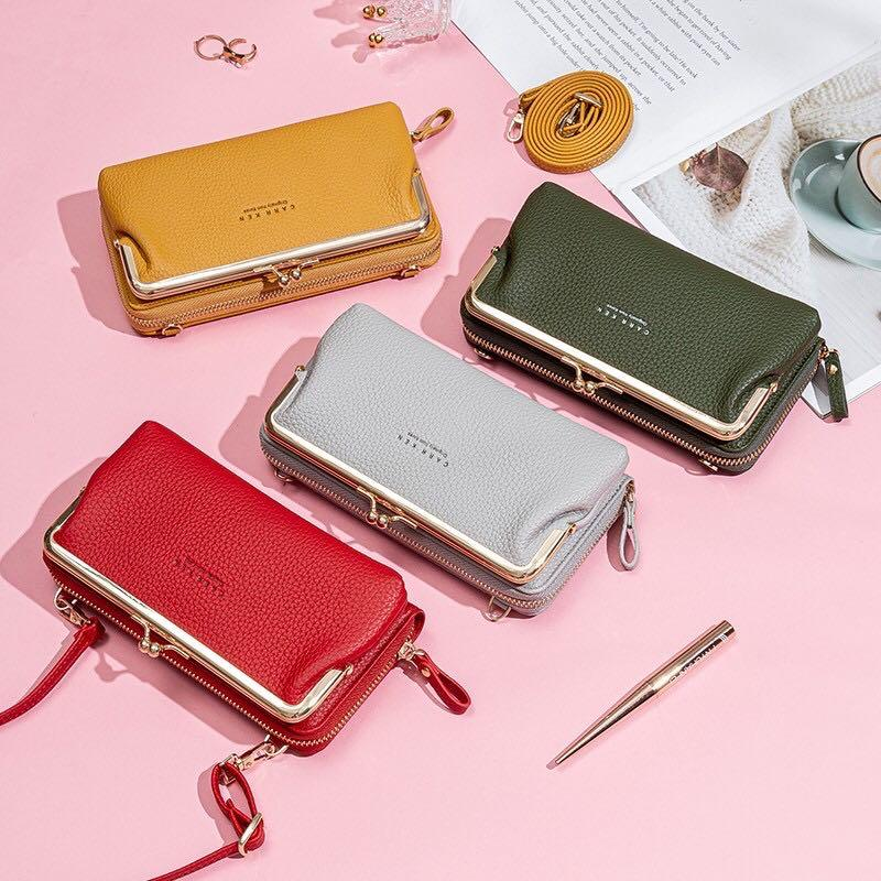 Sling clutch phone leather