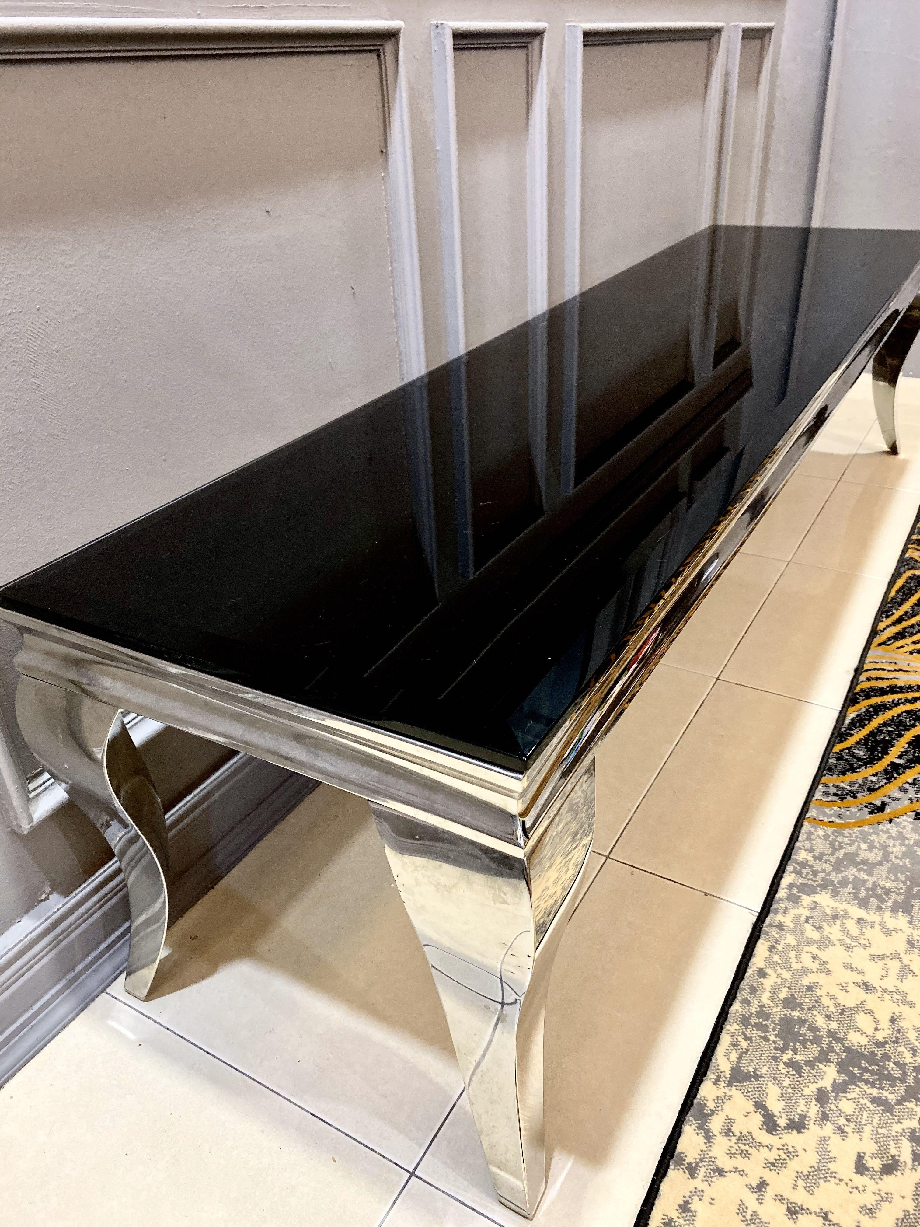 Ssf Tv Cabinet Tempered Glass Home Furniture Furniture On Carousell