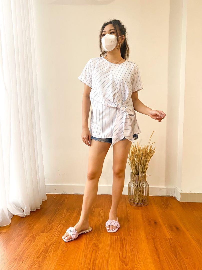 Stripe white top