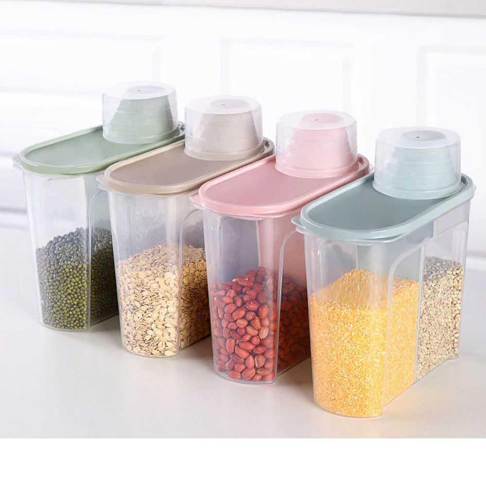 Toples Wadah Penyimpanan Makanan Food Storage 1PCS - Biru 1,9L