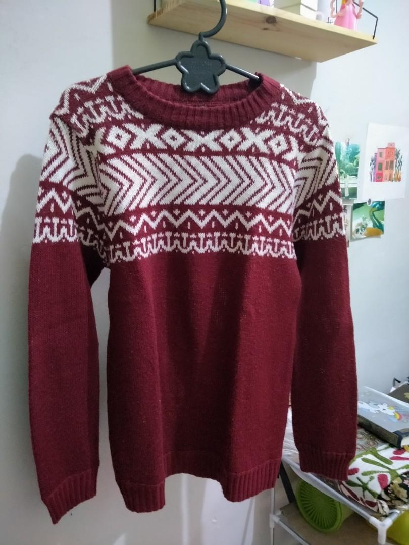 Tribal Red Sweater