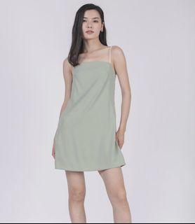 TTR Alfie Contrast Strap Dress (M) Seafoam BNWT
