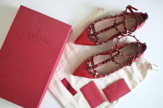 Valentino Caged Flats SIZE 7