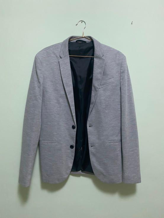 Zara灰色西裝外套