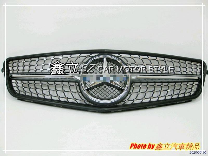 ※ 鑫立汽車精品 ※ W204 08-13年 滿天星 一線 大星標 水箱護罩 水箱罩 中網 ABS 銀線銀框
