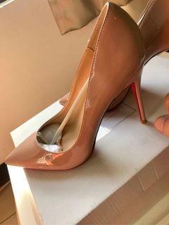 手工訂制 高根鞋 size39 全新 鴕色 膚色