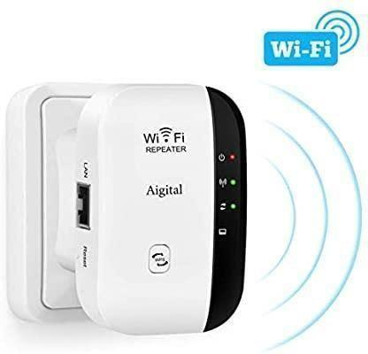 Aigital WiFi Extender Long Range WiFi Repeater Wireless Access Point Signal Booster, 300Mbps Wi-Fi Blast Signal Amplifier, 2020 New Program for Easy Setup and Stable Connection