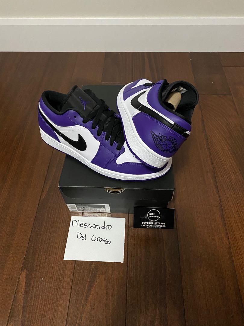 Air Jordan 1 Low Court Purple size 10