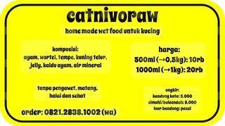 CATNIVORAW Makanan Basah Untuk Kucing Wet Food