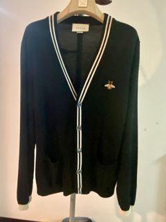 Gucci 真品 超新 蜜蜂電繡 純正羊毛 針織衫  當時購入約4萬初