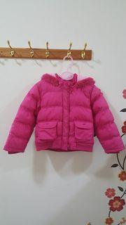 mothercare女童桃紅色鋪棉保暖外套5-6y二手福利價