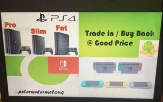 Offering High Price PS4 PS5 Switch PlayStation Trade in / Buy Back