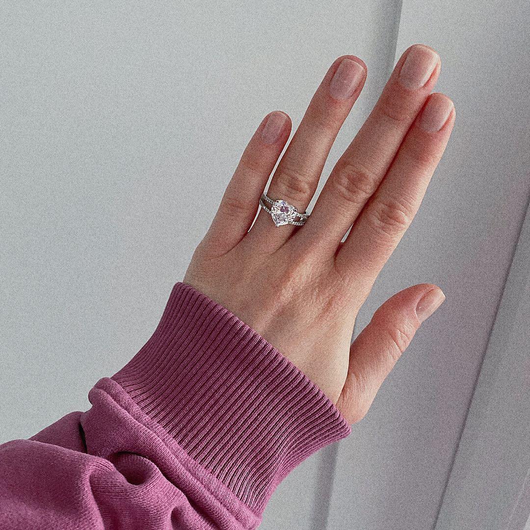 Ring Crystal Heart