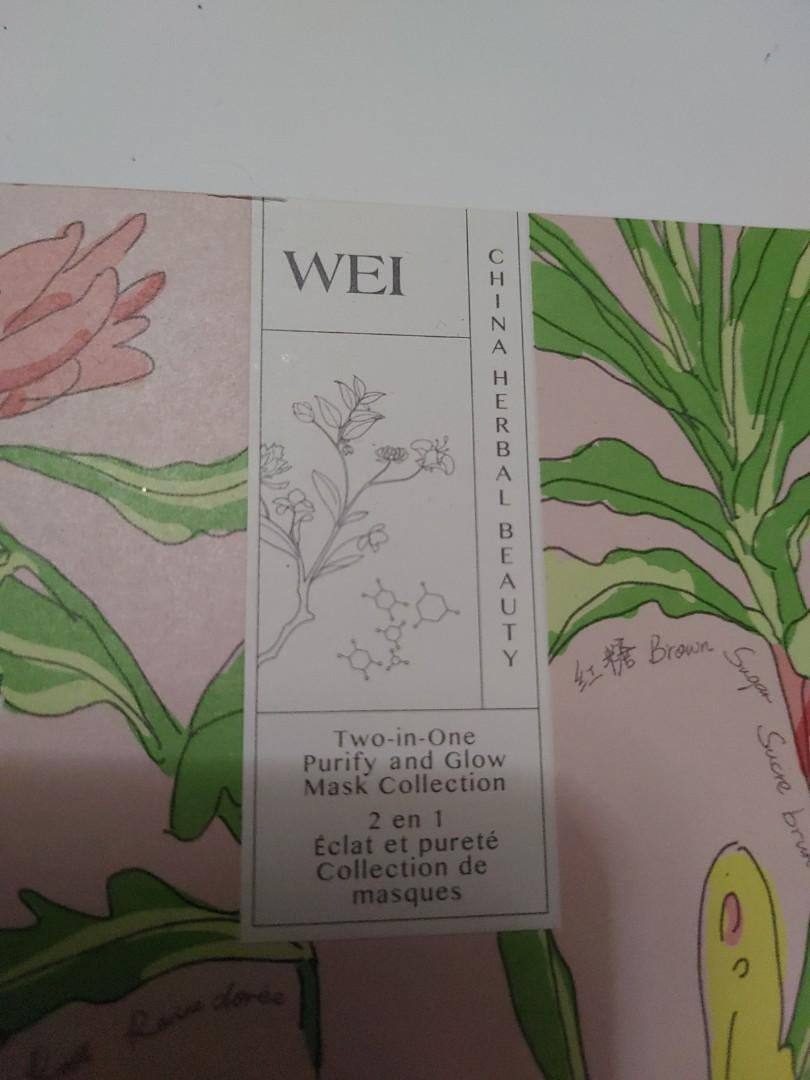 Wei two & one face mask's kit
