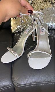 White jewelry heels