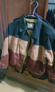 vintage重磅 麂皮 三色拼接 外套